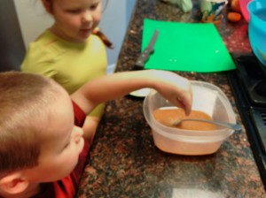 Margaret allows Adam to help her add pinches of salt, which is his favorite part every time.