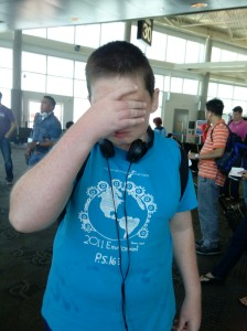 Stressing out about getting onto the plane (click on the article for happier times).